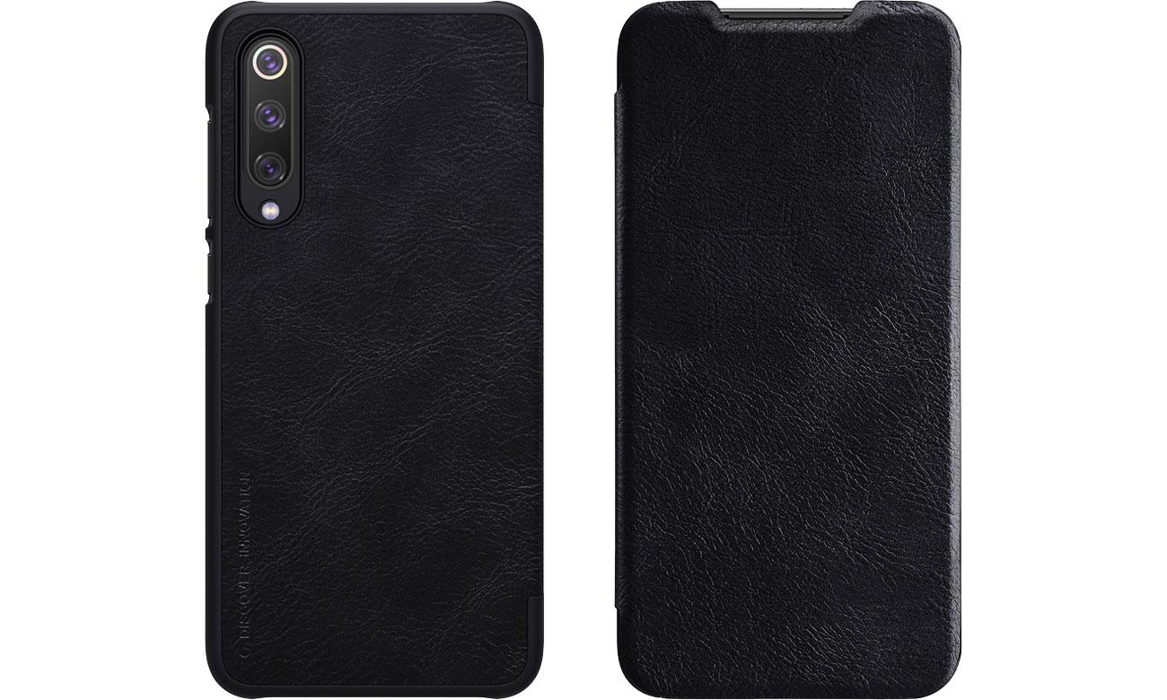 Etui Skórzane Qin do Xiaomi Mi 9 SE czarny
