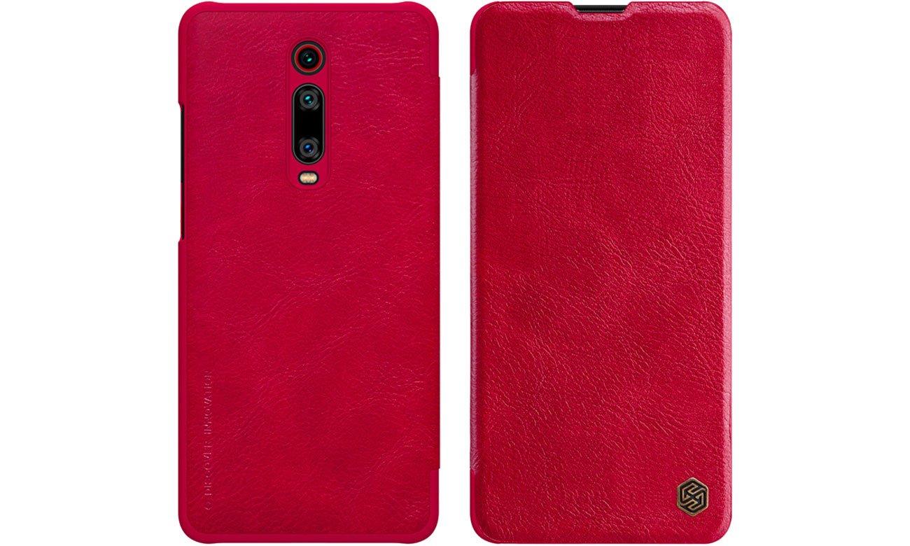 Etui Skórzane Qin do Xiaomi Mi 9T/9T Pro czerwony