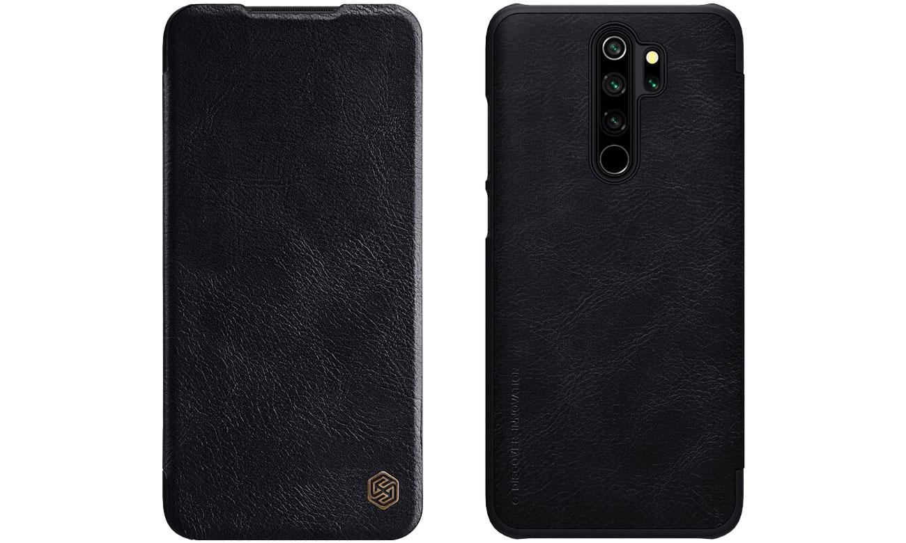 Etui Skórzane Qin do Redmi Note 8 Pro czarny