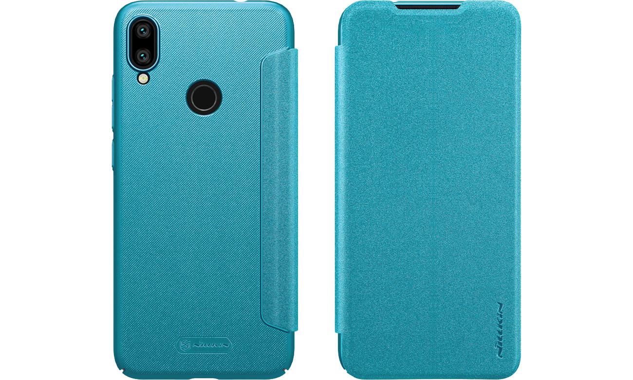 Etui z Klapką Sparkle do Xiaomi Redmi Note 7 Blue