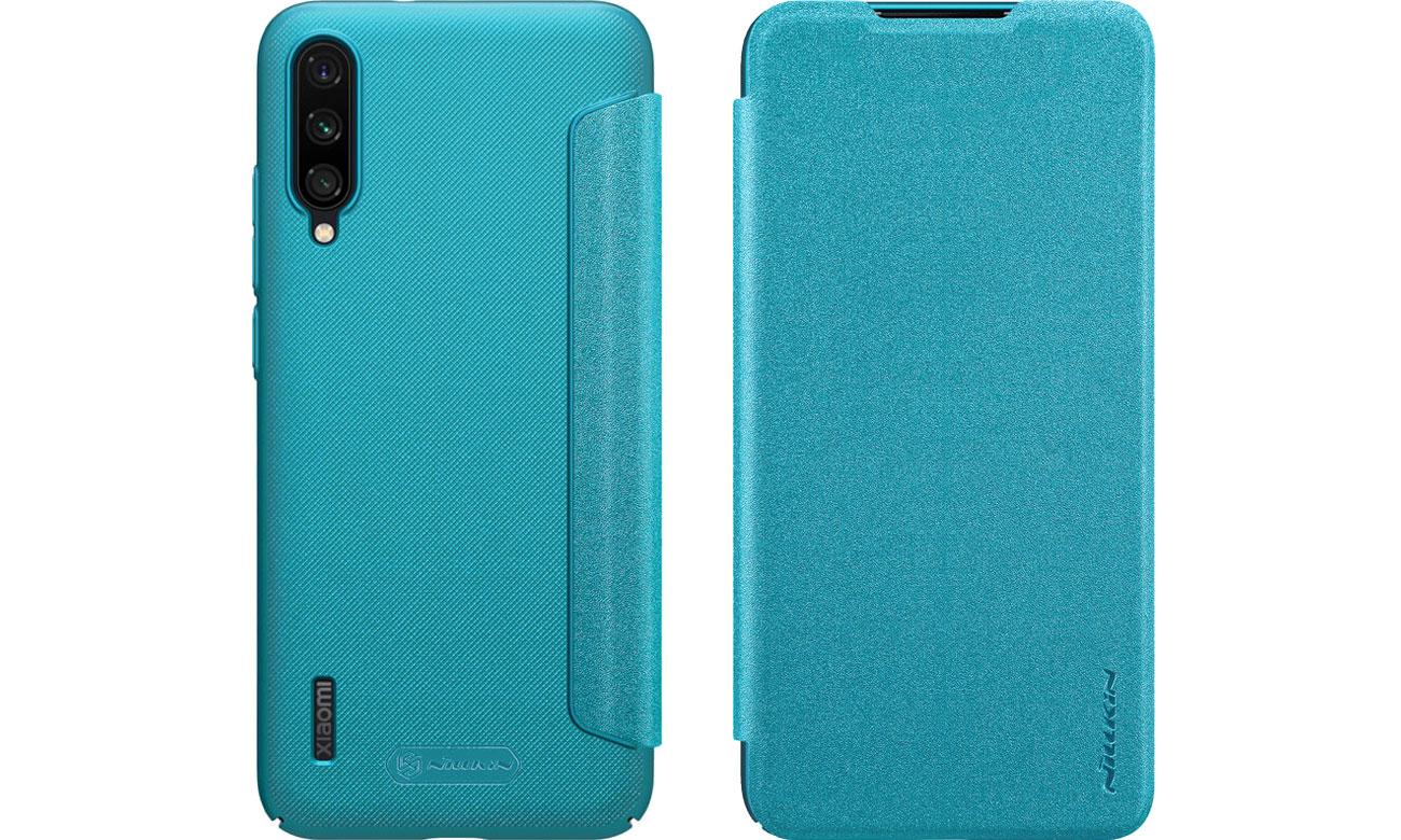 Etui z Klapką Sparkle do Xiaomi Mi A3 niebieski