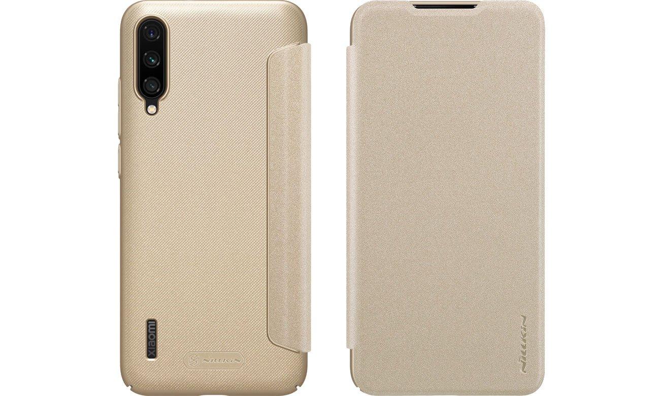 Etui z Klapką Sparkle do Xiaomi Mi A3 złoty