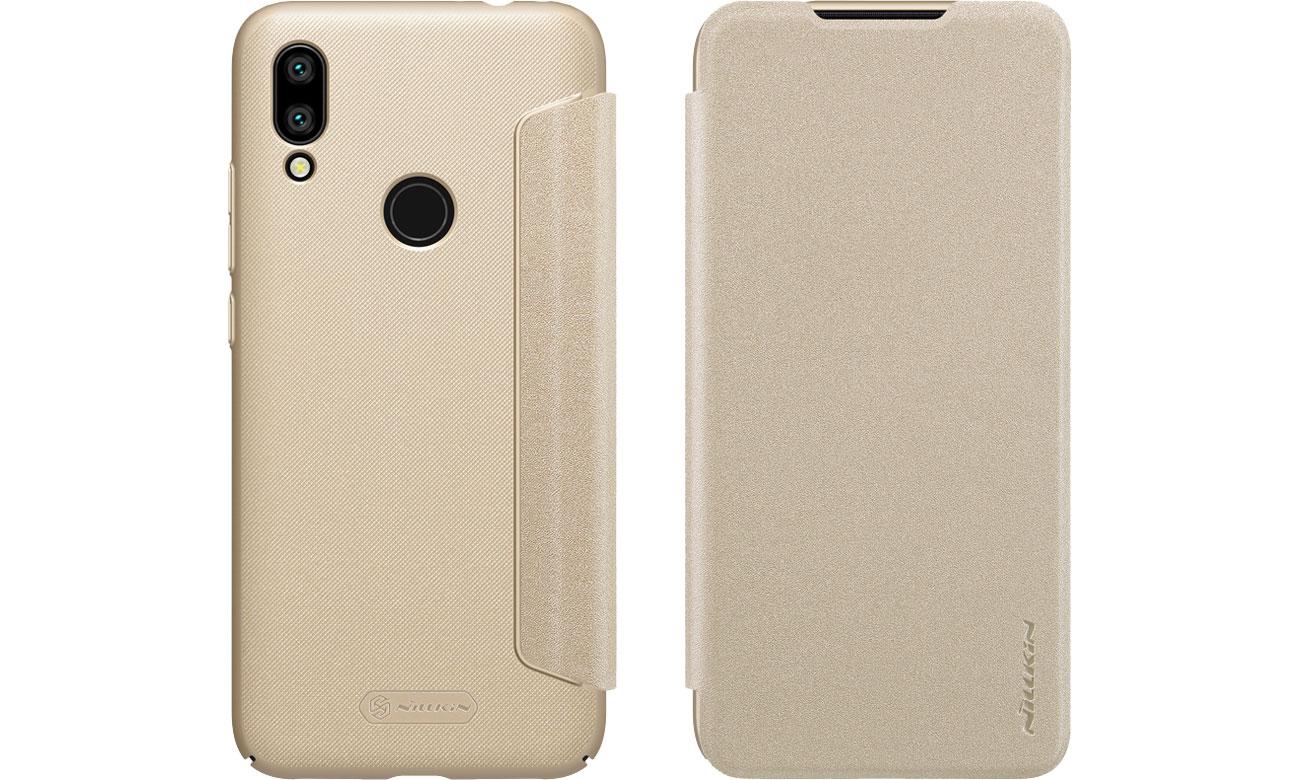 Etui z Klapką Sparkle do Xiaomi Redmi 7 Gold
