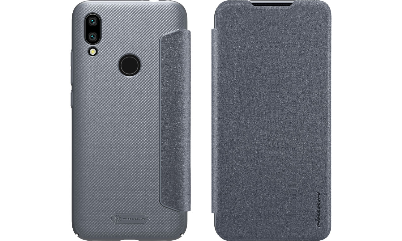 Etui z Klapką Sparkle do Xiaomi Redmi 7 Gray
