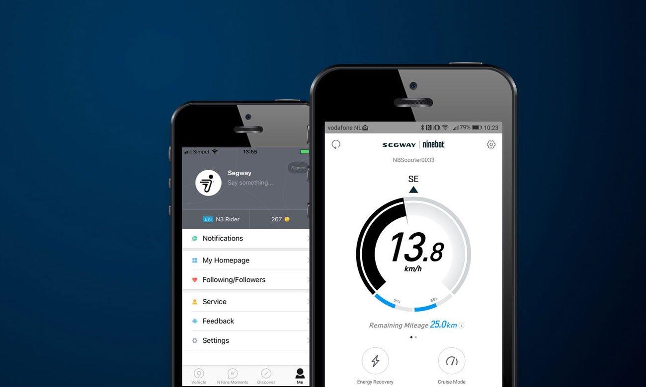 Ninebot by Segway KickScooter ES1 Aplikacja mobilna