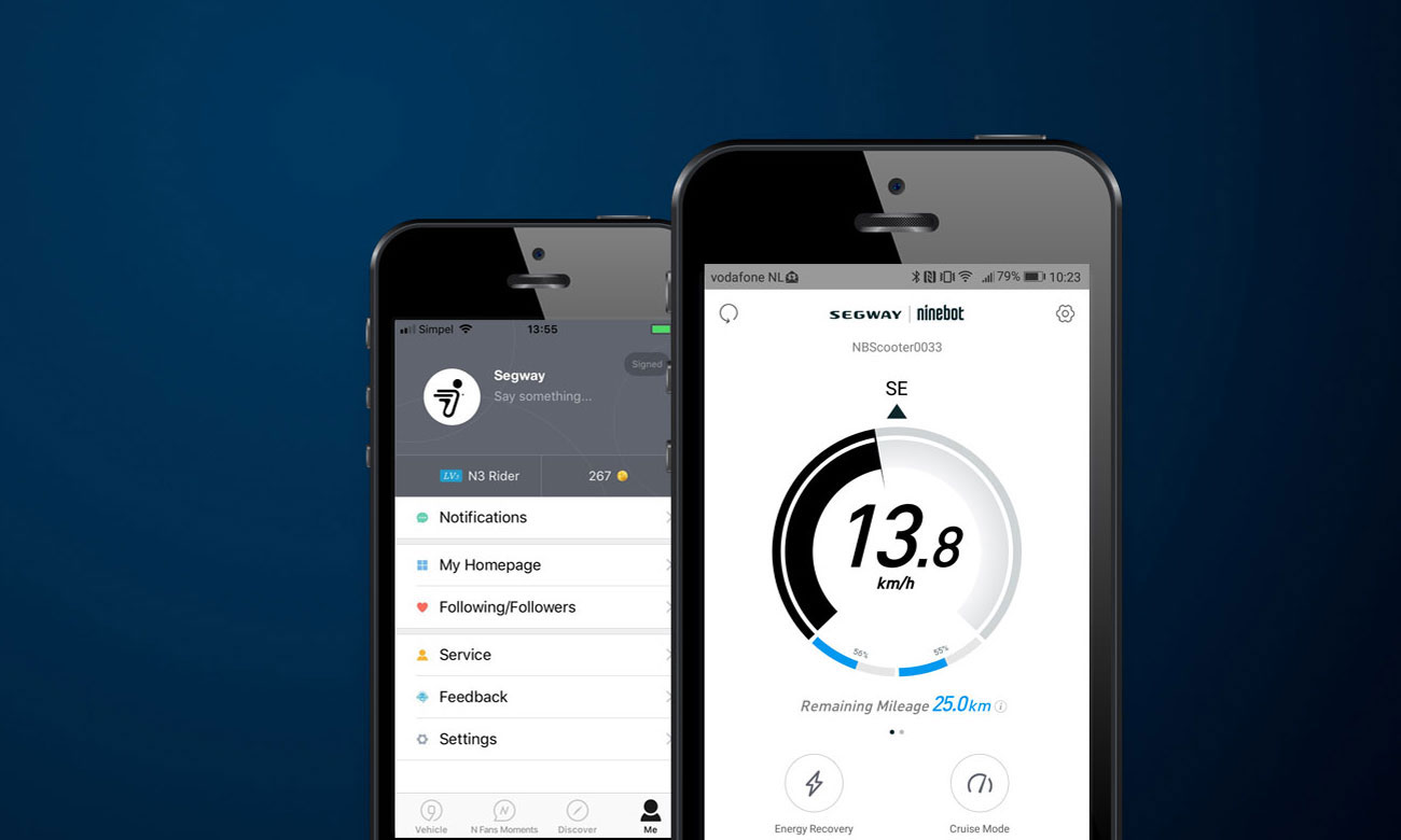 Ninebot by Segway KickScooter ES2 Aplikacja mobilna