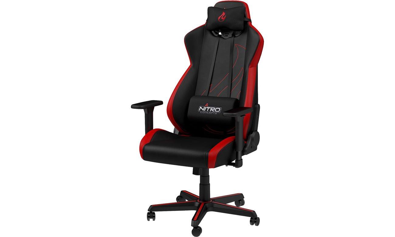 Fotel gamingowy Nitro Concepts S300 EX Gaming (Czarno-Czerwony) NC-S300EX-BR