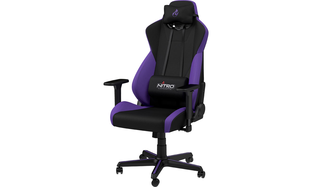 Fotel gamingowy Nitro Concepts S300 Gaming (Czarno-Fioletowy) NC-S300-BP