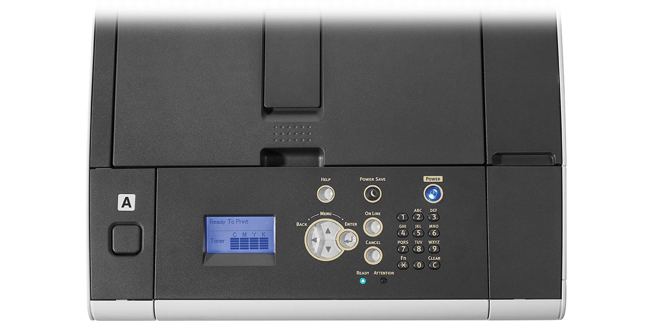 OKI C532dn Wyświetlacz LCD, sterowanie