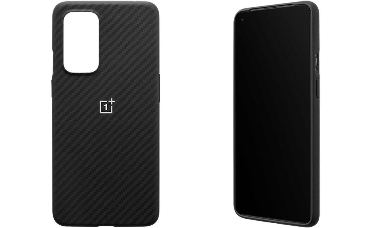 Etui Karbon Bumper Case do OnePlus 9 Czarne