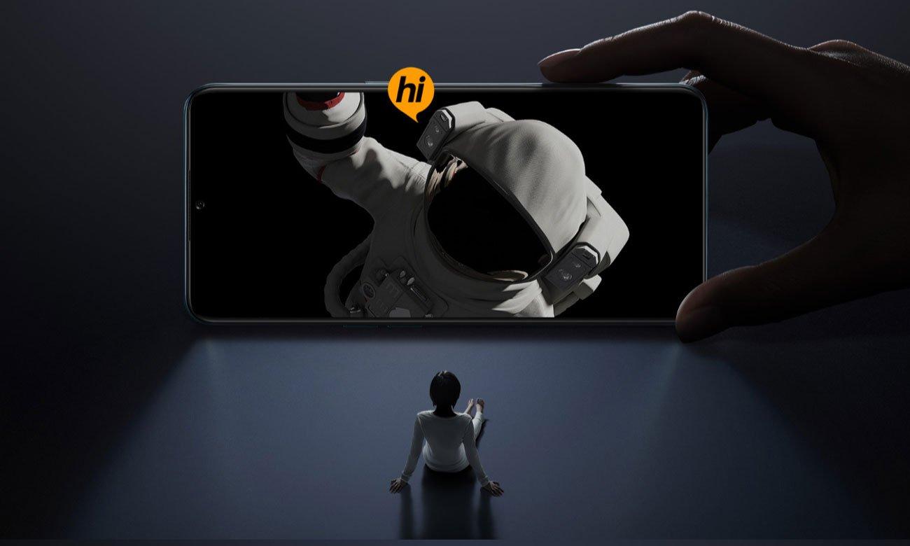 Przestronny ekran AMOLED FHD+ z Corning Gorilla Glass 5