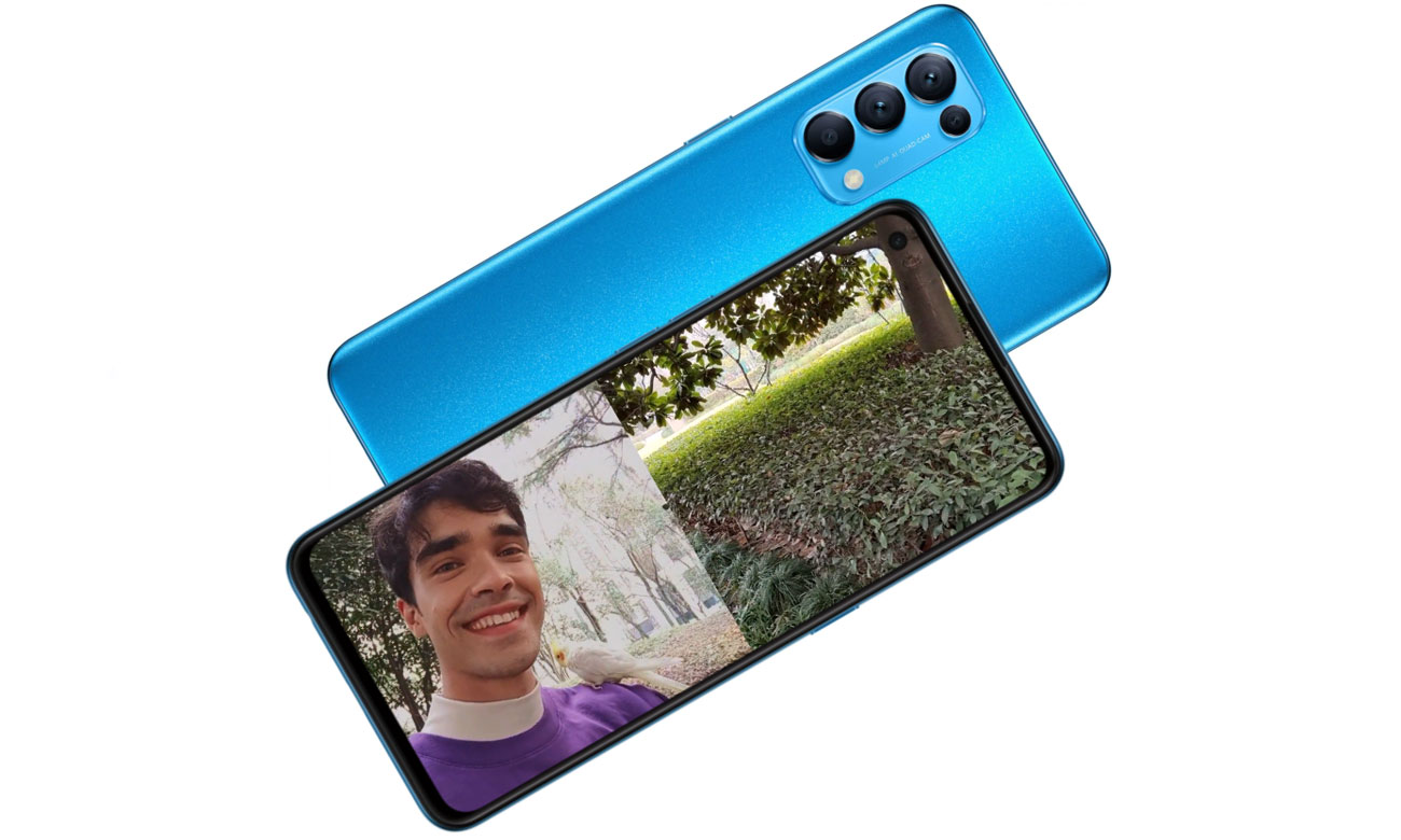 Smartfon OPPO Reno5 5G ekran