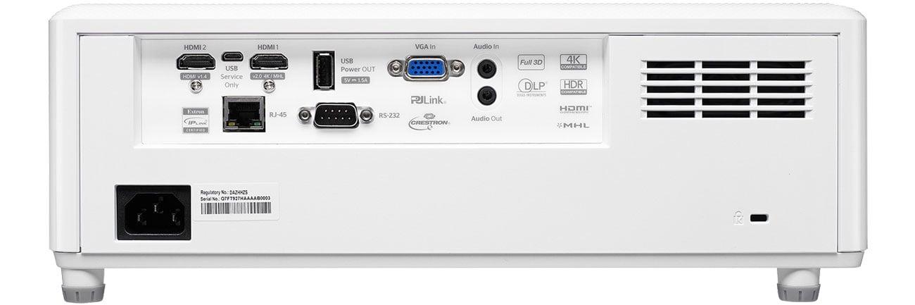 Optoma ZH403 - Złącza