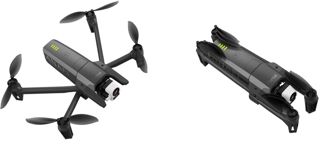 Kompaktowa konstrukcja drona Parrot ANAFI Thermal