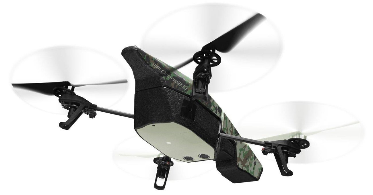 Drone Parrot AR.Drone 2.0 Elite Edition Jungle Front Bottom