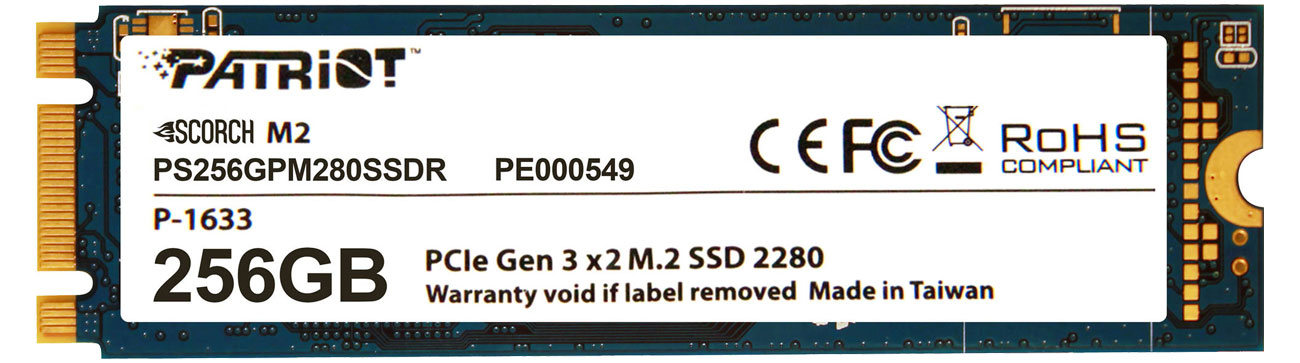 Dysk SSD Patriot 256GB M.2 SSD PCIe Scorch 2280 PS256GPM280SSDR