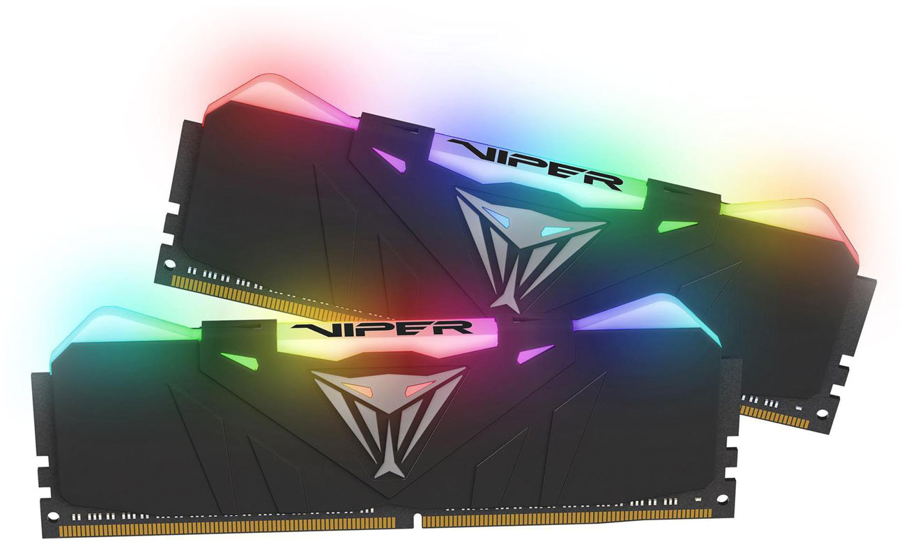 Pamięć RAM DDR4 Patriot 16GB 3200MHz Viper RGB CL16 (2x8GB) PVR416G320C6K