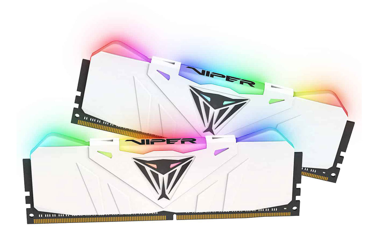 Pamięć RAM DDR4 Patriot 16GB 3200MHz Viper RGB LED CL16 (2x8GB) White PVR416G320C6KW
