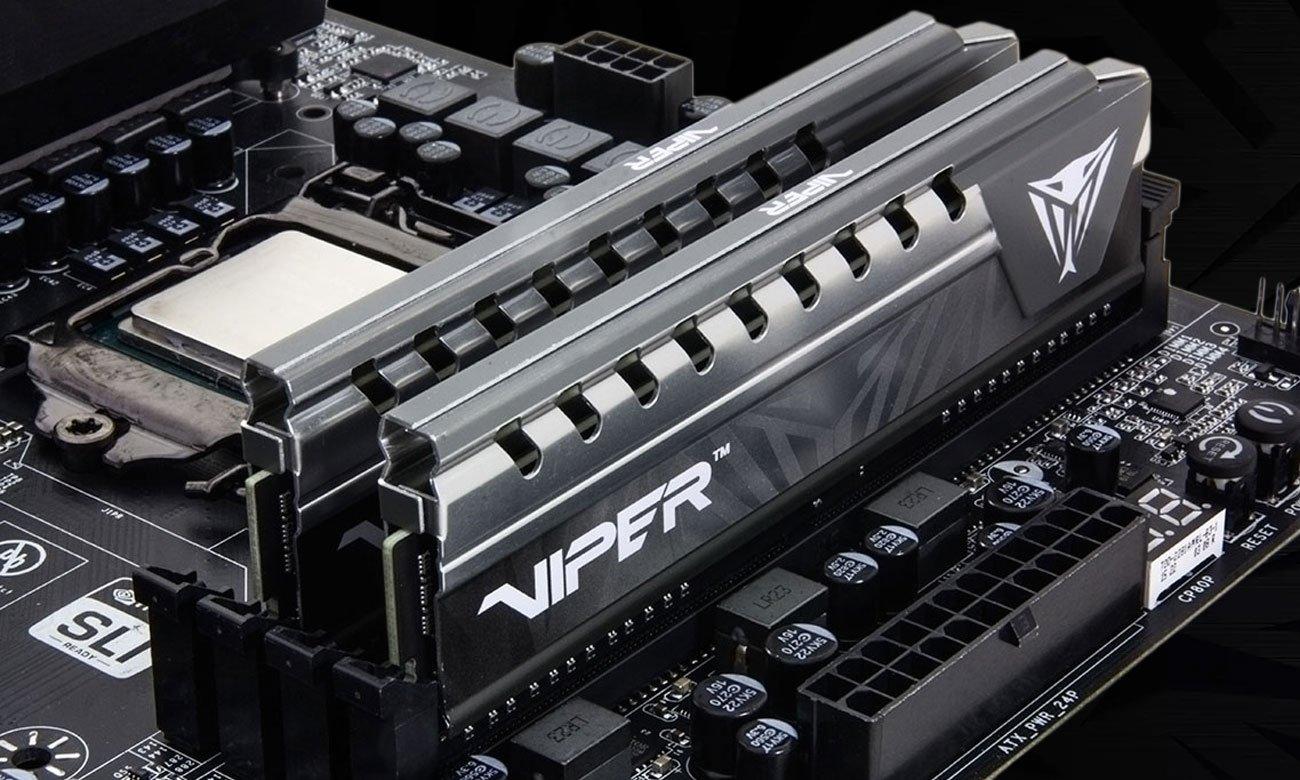 Pamięć DDR4 Patriot Viper Elite Gray Potężne i stylowe radiatory, najwyższa jakość materiałów