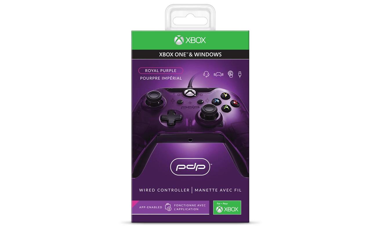 Kontroler PDP Pad Xbox Purple