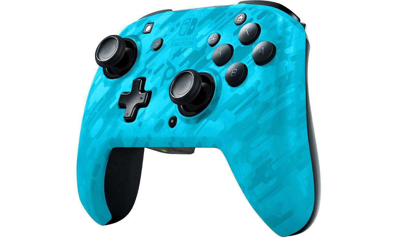 Pad bezprzewodowy PDP Faceoff Camo do Nintendo Switch Niebieski