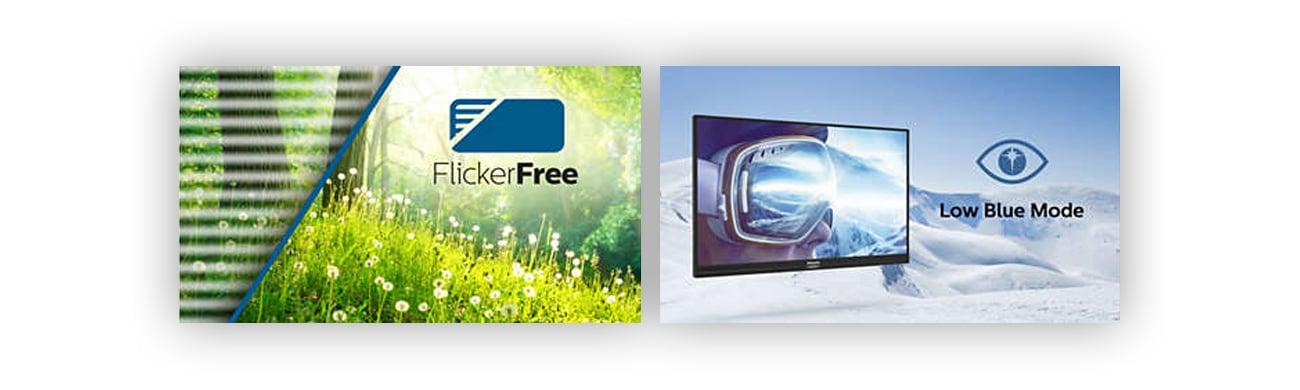 Philips 243V7QJABF/00 monitor przyjazny dla oczu