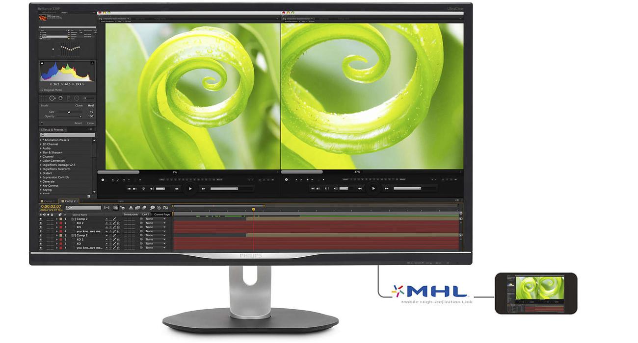 Philips 328P6VJEB/00 Technologia HDMI/MHL