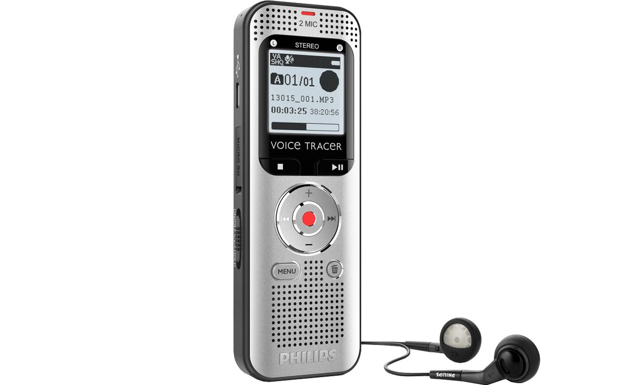 Dyktafon Philips DVT2000 słuchawki