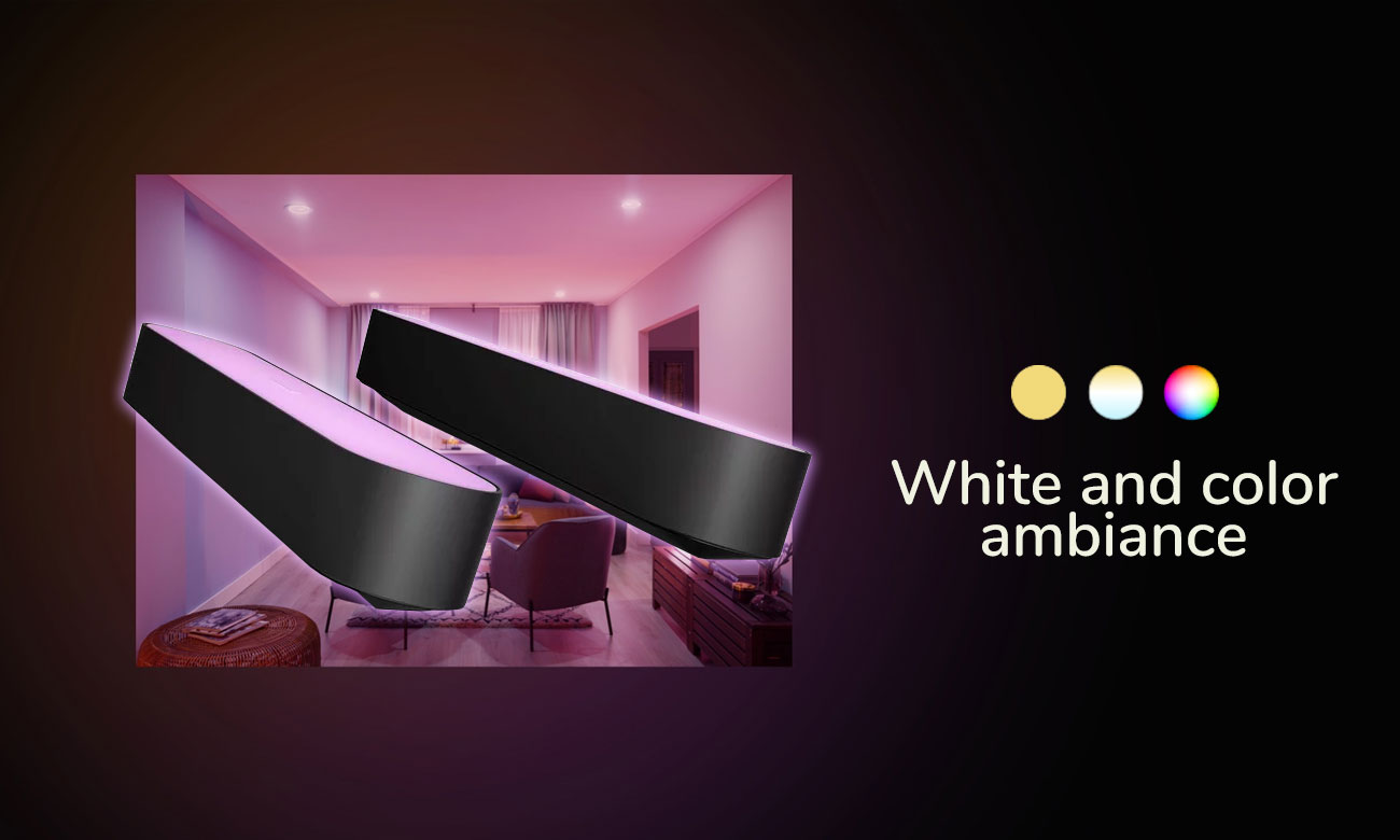 Hue White and Color Ambience Play (2szt. czarna)