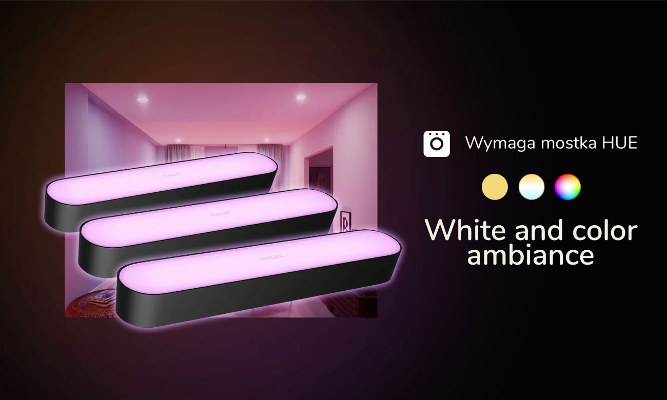 Hue White and Color Ambience Play (3szt. czarna)