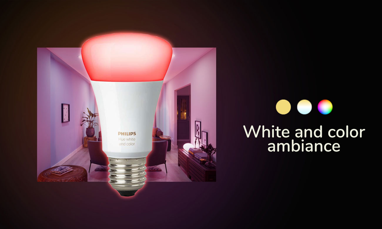 Philips Hue White and Color Ambiance (1szt. E27)