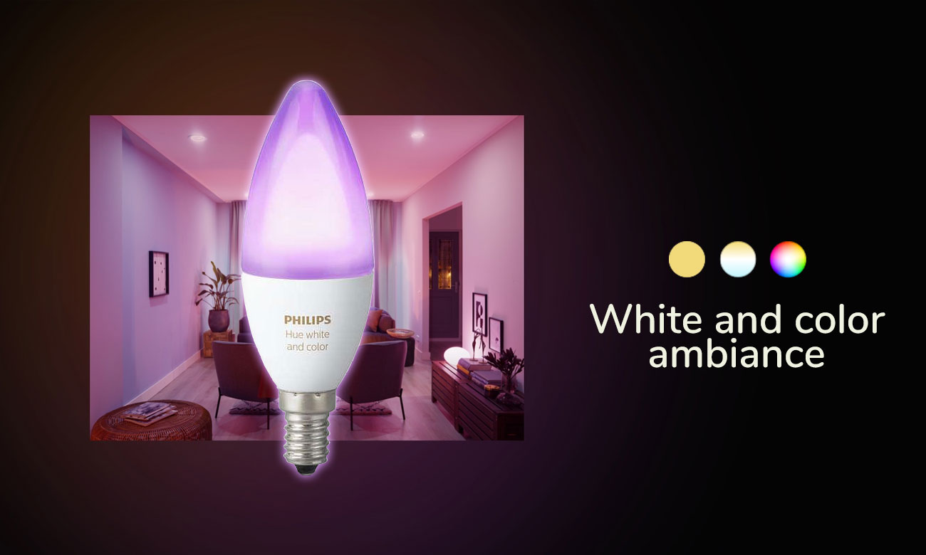Philips Hue White and Color Ambiance (1szt. E14)