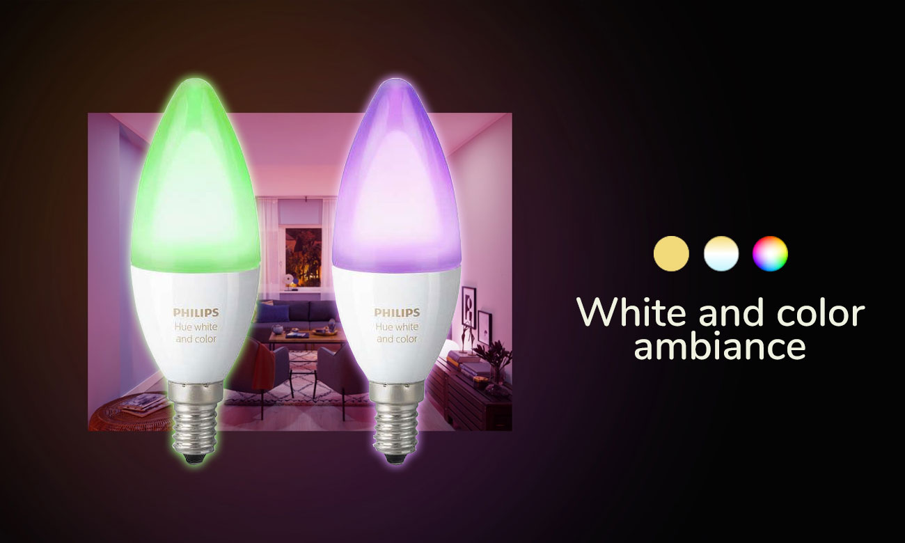 Philips Hue White and Color Ambiance (2szt. E14)