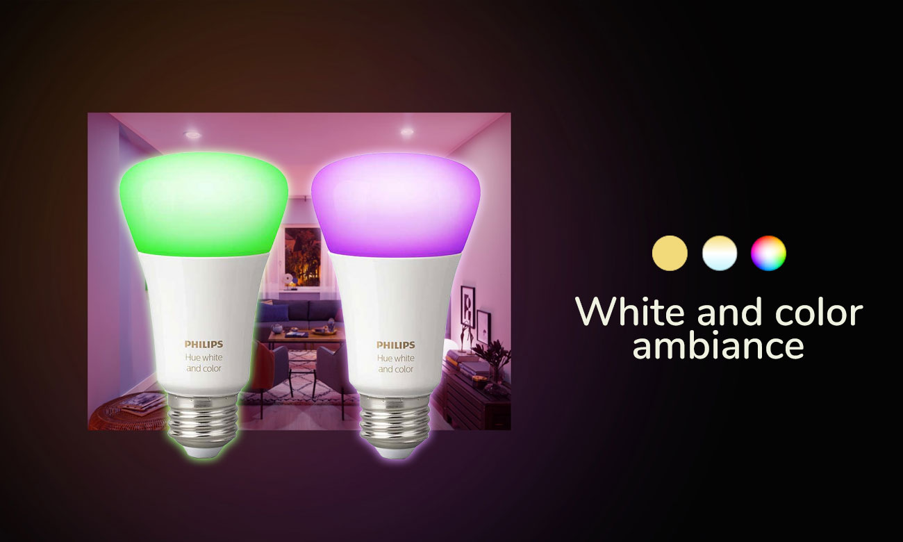 Philips Hue White and Color Ambiance (2szt. E27)