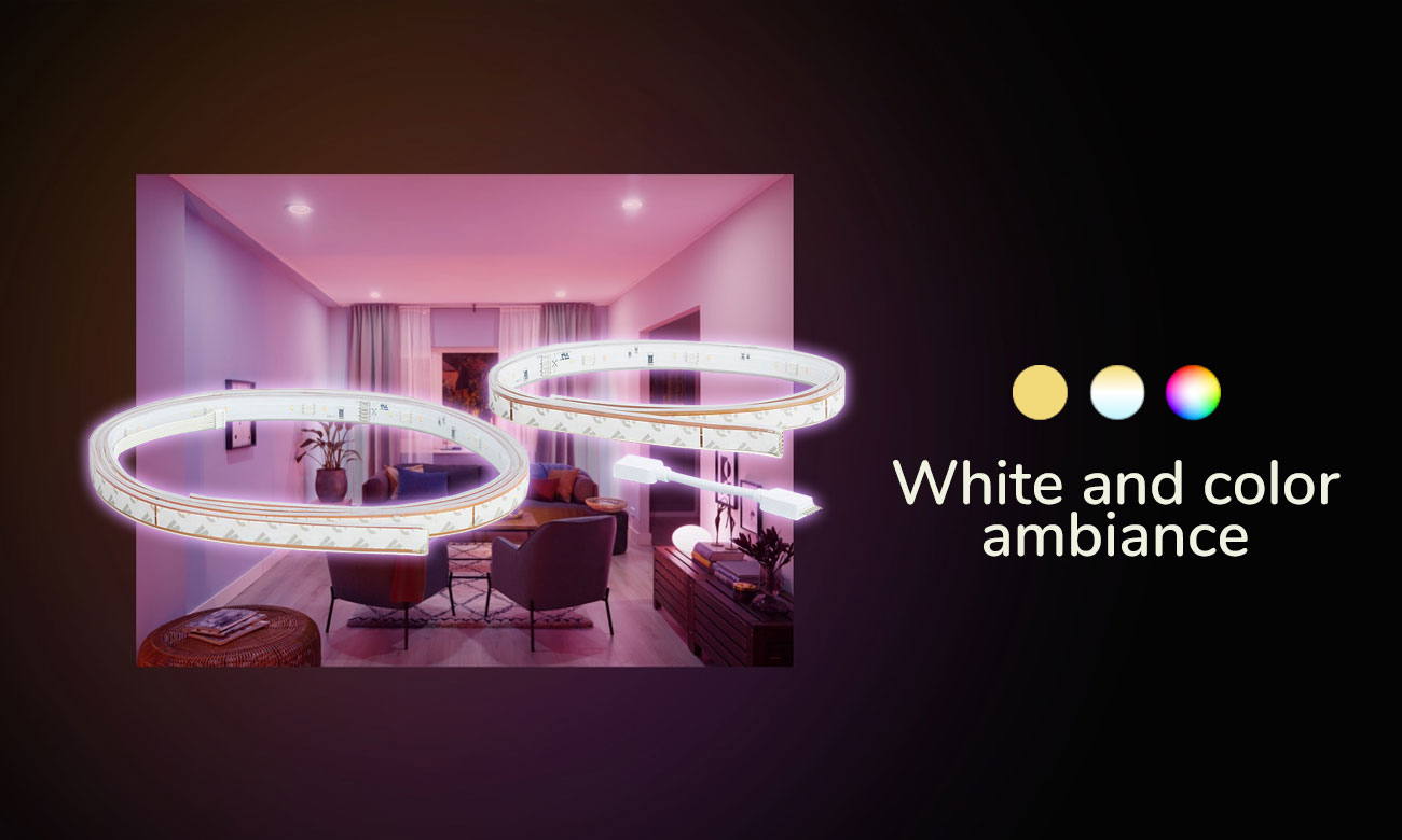 Philips Hue White and Color Ambiance Taśma LED (2+1metr)