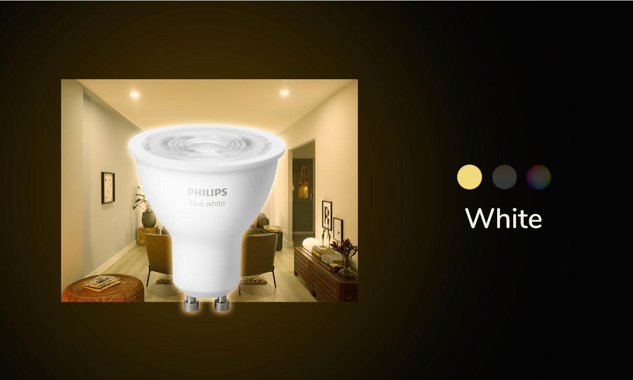 Inteligentna żarówka Philips Hue White (1szt. GU10 5,2W) 8718699628697 (ZigBee+BT)