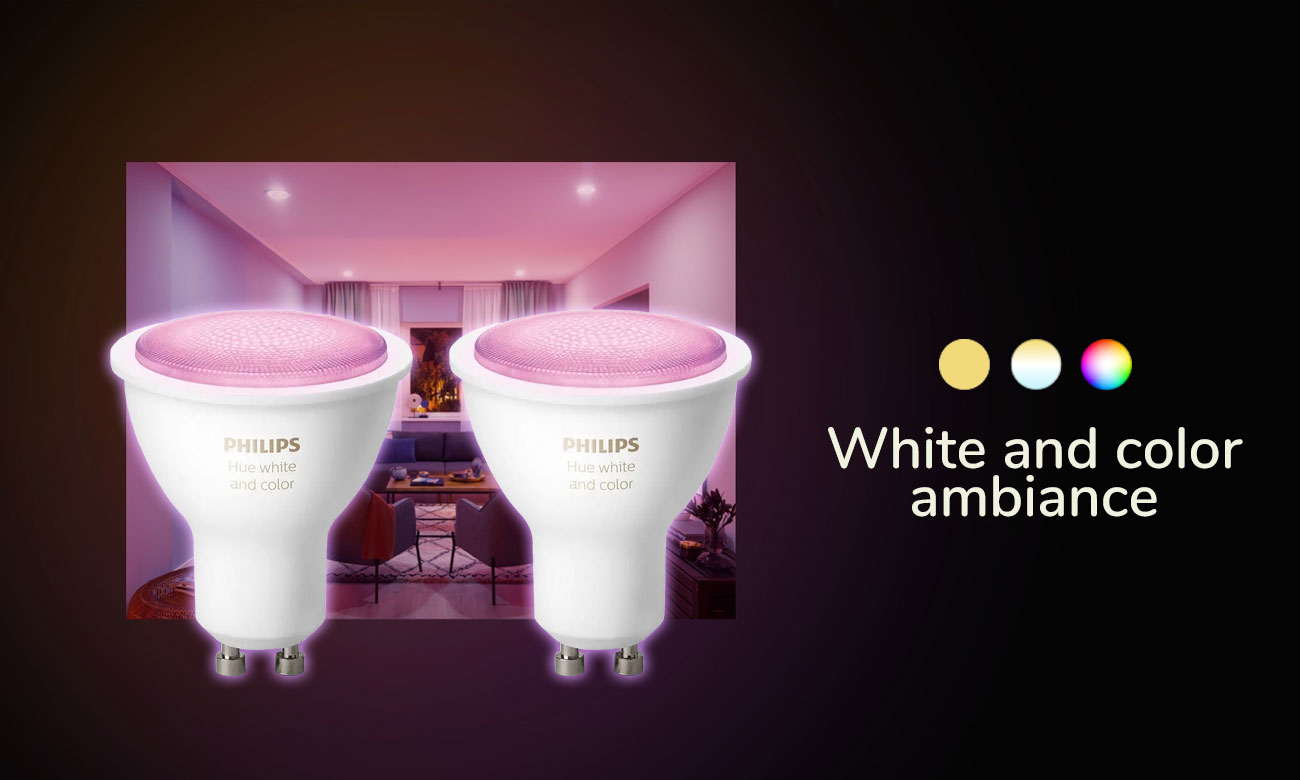 Philips Hue White and Color Ambiance (2szt. GU10)