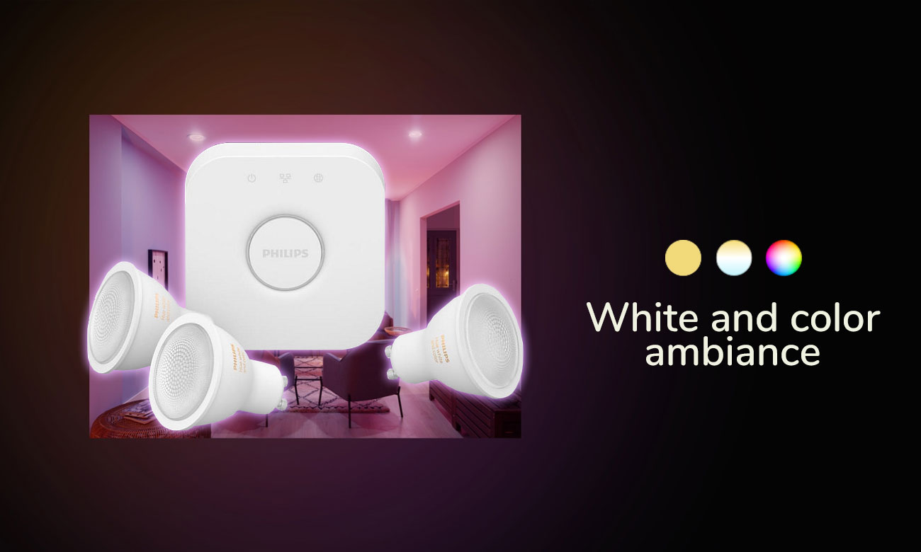 Zestaw startowy Philips Hue White and Color Ambiance (3szt. GU10)