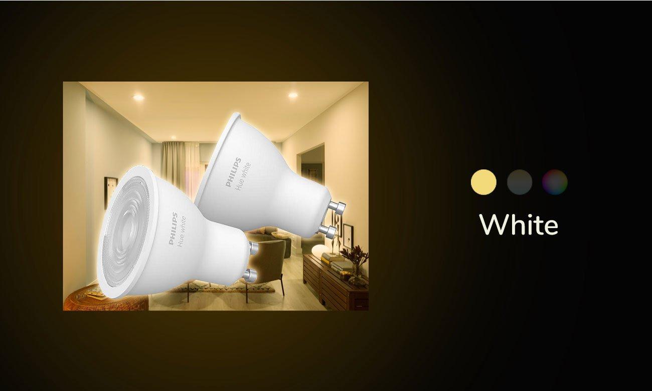 Inteligentna żarówka Philips Hue White (2szt. GU10 5,2W) 8718699629311 (ZigBee+BT)