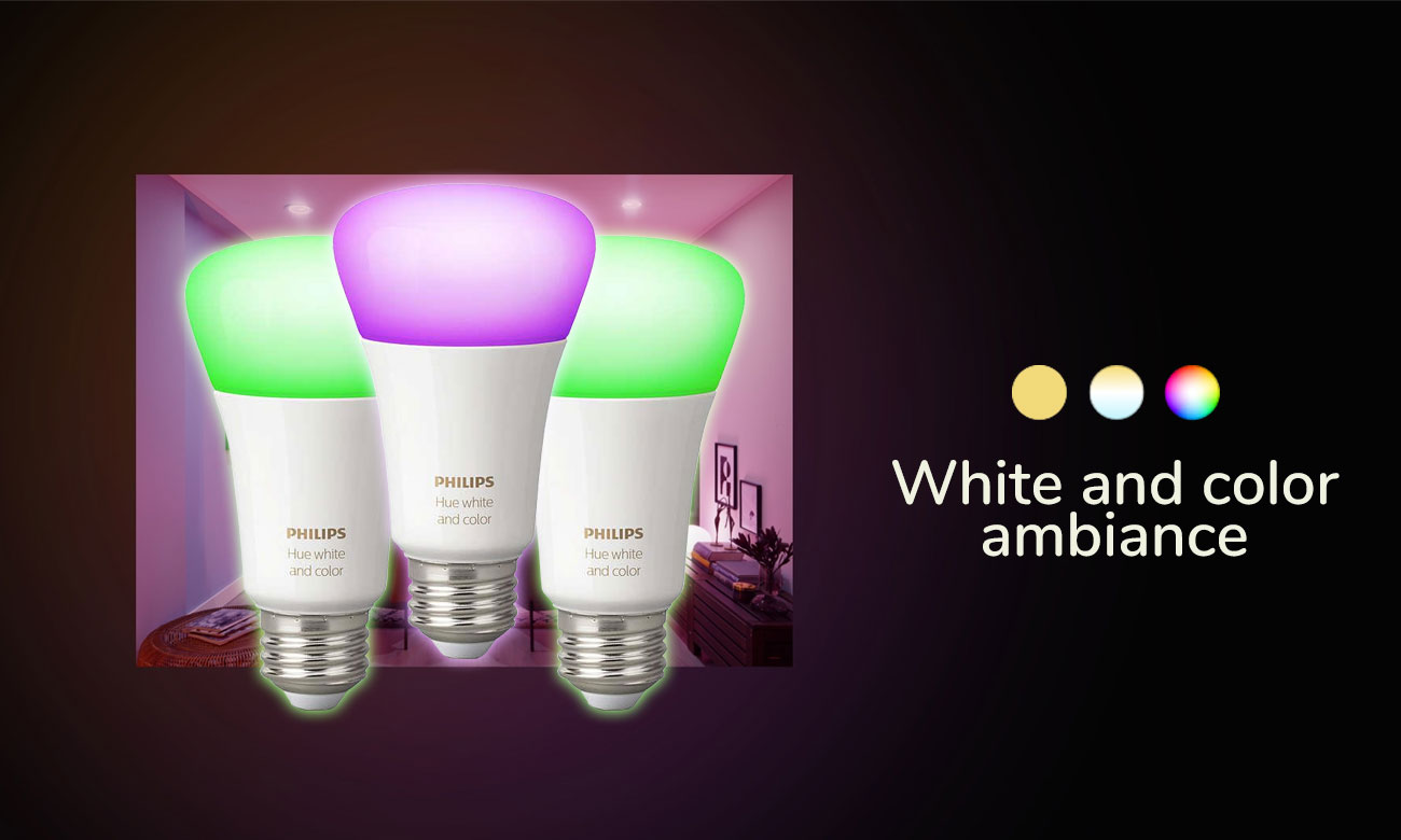 Philips Hue White and Color Ambiance (3szt. E27)