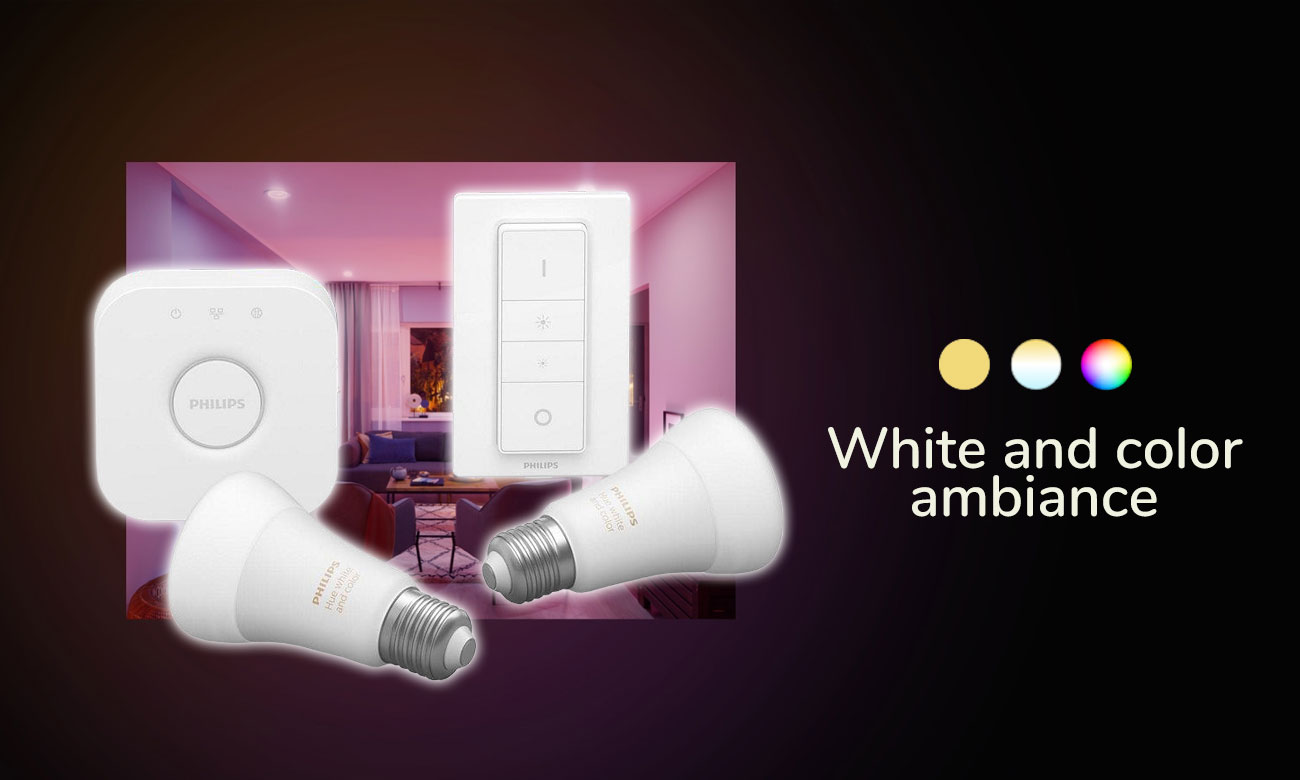 Zestaw startowy Philips Hue White and Color Ambiance (2szt. E27)