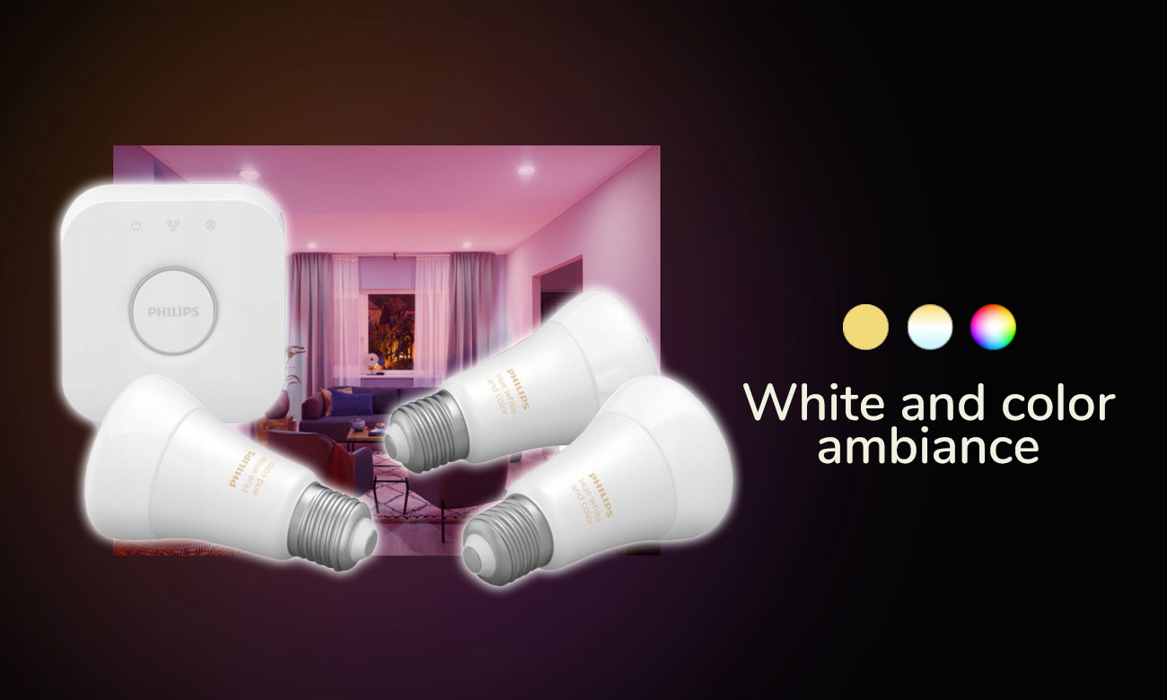 Zestaw startowy Philips Hue White and Color Ambiance (3szt. E27)