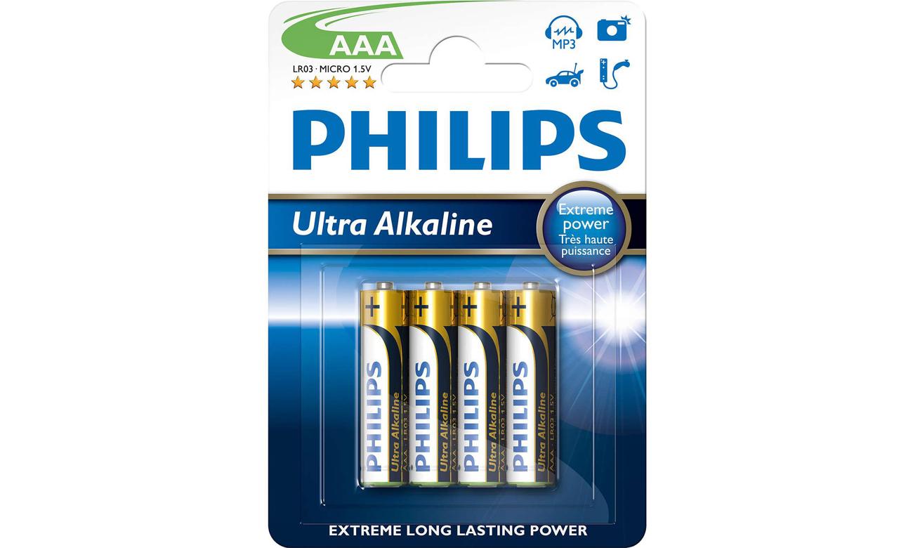 Baterie alkaliczne Philips Ultra Alkaline AAA 4szt.
