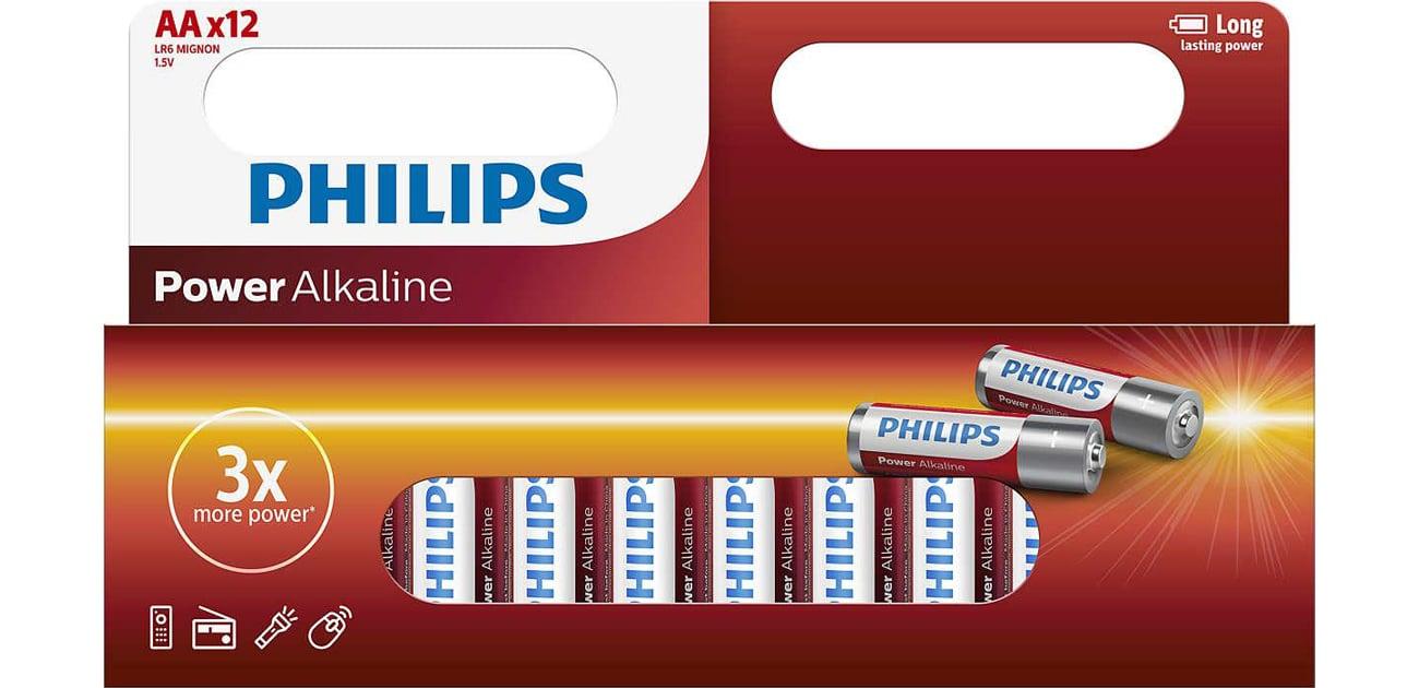 Philips Power Alkaline AA 12szt LR6P12W/10