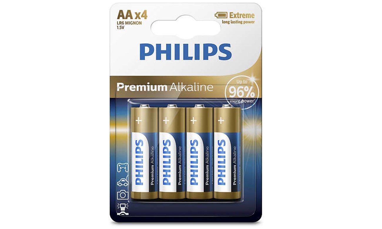 Baterie alkaliczne AA Philips Premium Alkaline 4 szt.
