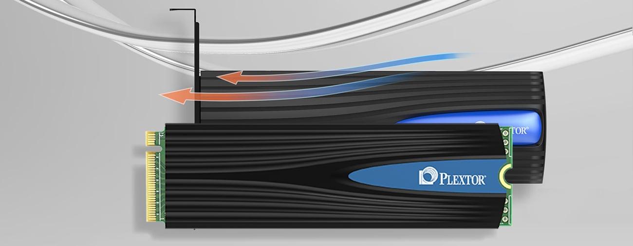 Plextor 512GB M.2 2280 M8SeG wydajne chłodzenie