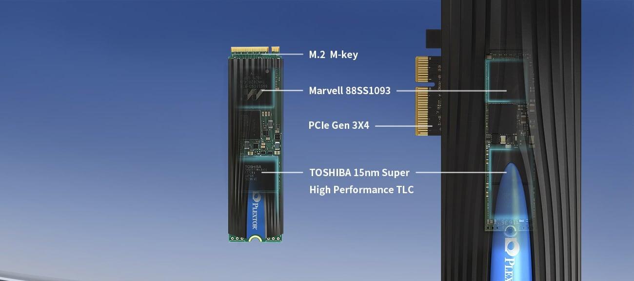 Plextor 512GB M.2 2280 M8SeG wysokiej jakości pamięci NAND TLC