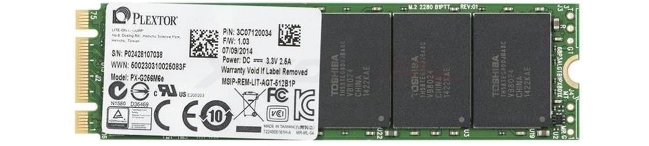 Dysk SSD Plextor 256GB 2,5'' PCIexpress M6E M.2 Edition PX-G256M6e