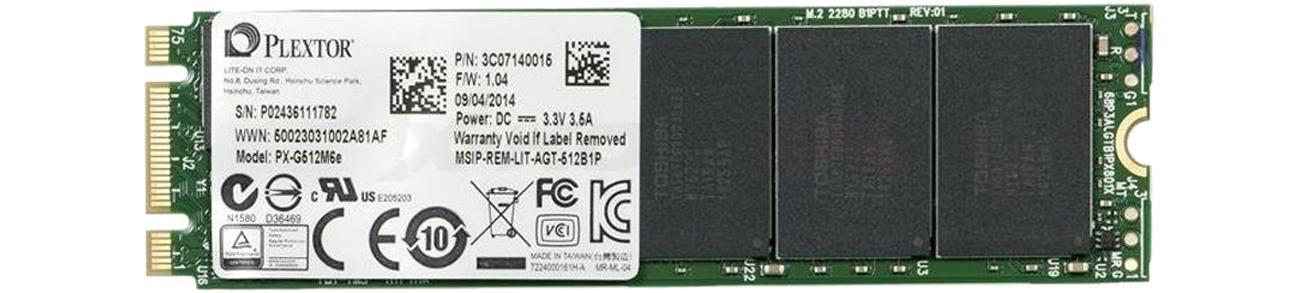 Dysk SSD Plextor 512GB 2,5'' PCIexpress M6E M.2 Edition PX-G512M6e