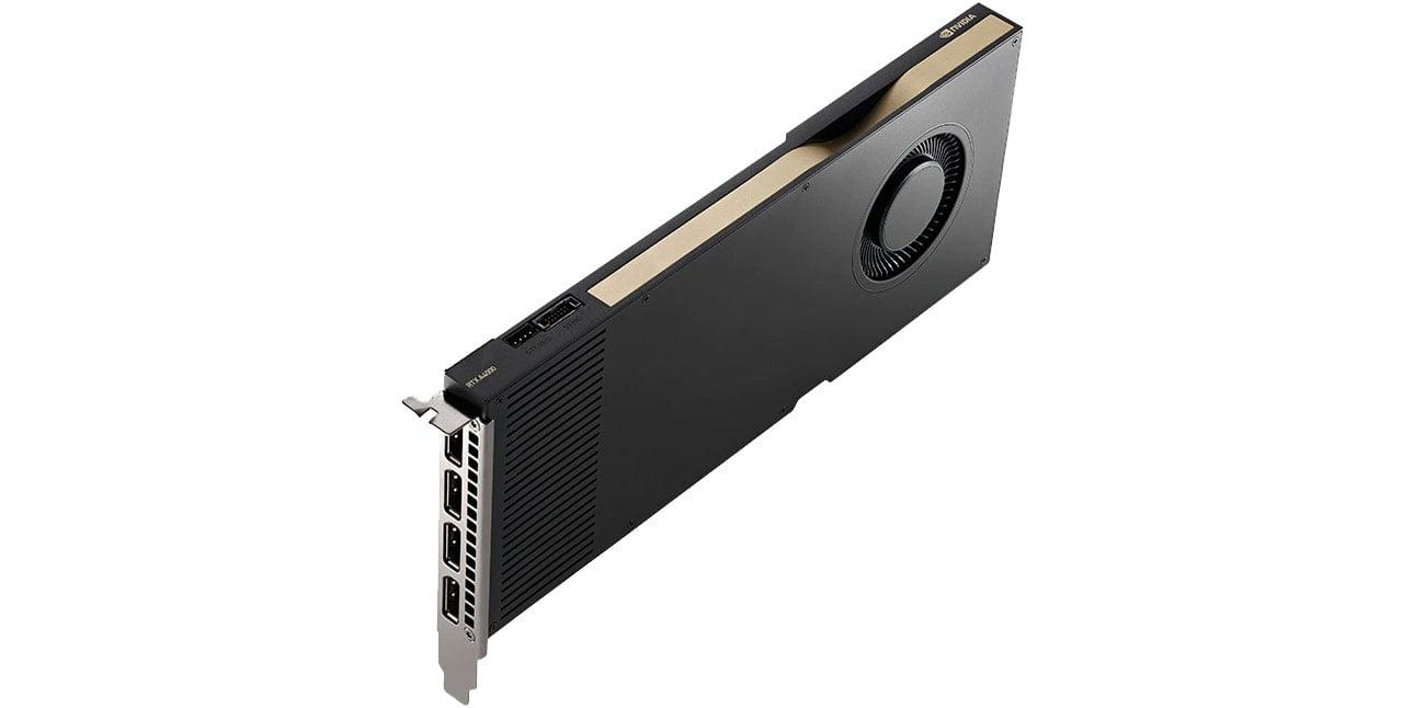 PNY Quadro A4000 16GB DDR6 Kompaktowa budowa